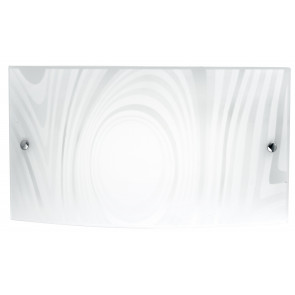 I-UNIVERSE / AP4525 - Applique murale avec décoration Satin Cercles Rectangulaire Verre Led lampe 24 watt Natural Light