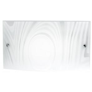 I-UNIVERSE/AP4525 - Applique decoro Satinato Cerchi Rettangolare Vetro Lampada Led 24 watt Luce Naturale