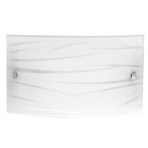 I-GOGAIN / AP4525 - Applique murale rectangulaire Lignes de décoration en verre Lampe LED satinée 24 watts Lumière naturelle
