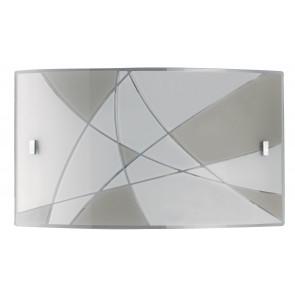 I-MAXIMA/AP4525 - Applique rettangolare con decori astratti led 24 watt