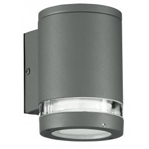 I-6047/SILVER - Applique Esterno Alluminio Silver Impermeabile Fascia Trasparente 25 watt GX53 Luce Calda