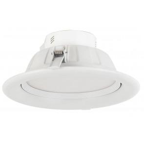 INC-EXIGE-8W - Spot rond encastrable au faux plafond en aluminium blanc avec lumière naturelle de 8 watts