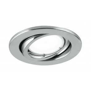 INC-MATRIX-LEDM1 CR - Faretto Metallo Cromato Tondo Orientabile Incasso Cartongesso Led 6 watt Luce Calda