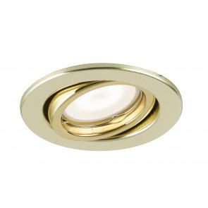 INC-MATRIX-LEDM1 ORO - Faretto Incasso Tondo Orientabile Metallo Oro Soffitto Ribassato Led 6 watt Luce Calda
