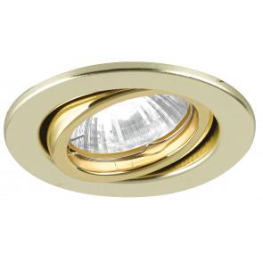 INC-MATRIX-DM1 GOLD - Spot rond ajustable en métal plaqué or placoplâtre 42 watts GU10