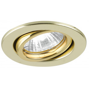INC-MATRIX-DM1 GOLD - Spot rond ajustable en métal plaqué or placoplâtre 42 watts GU10