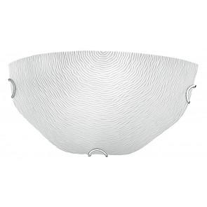 210/10600 - Lampe Murale Blanche Décoration en Verre Relief en Filigrane Moderne Lampe Intérieur E27