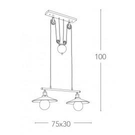 Lampe à suspension en métal Arkita avec système FanEurope Allen