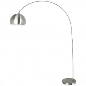 I-PLAZA/PT NIK - Lampada Arco Metallo Nikel Piantana Moderna Interni E27
