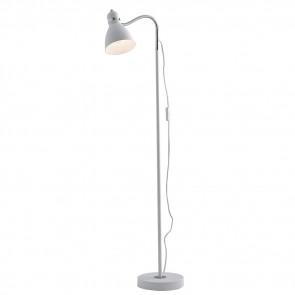 I-PEOPLE-PT BCO - Lampadaire en métal blanc Lampadaire moderne réglable E27