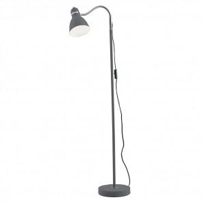 I-PEOPLE-PT GR - Lampada da Terra Orientabile Metallo Grigio Piantana Interno Moderno E27