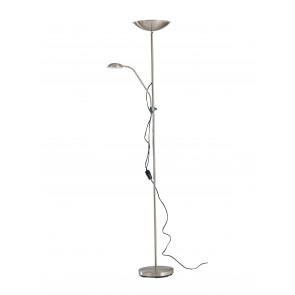 I-AFRODITE/PT - Piantana Metallo Nikel Lampada Lettura Flessibile Moderna Led 22 watt Luce Calda