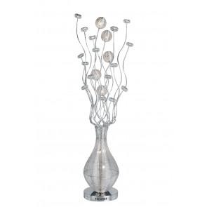 I-SANREMO / PT8 SILVER - Lampadaire Vase Fils en aluminium tissé à la main Lampadaire moderne 20 watts G4