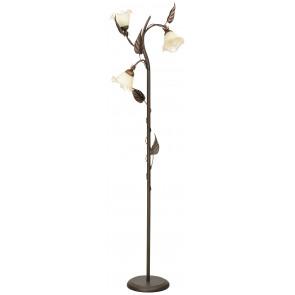 I-AUTUMN / PT3 - Lampadaire en métal cuivré Diffuseurs de décoration florale à la main Lampadaire en verre E14