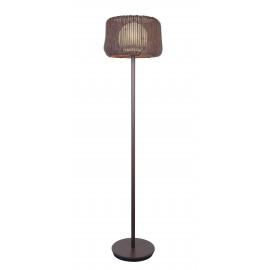 I-BABILON-PT - Abat-jour pour lampadaire d'extérieur Interweaving Polyvinyl Brown Spherical diffusor Opal E27