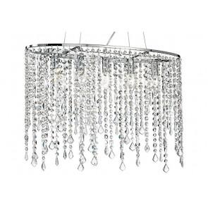 Sospensione in Metallo con Cristalli K9 Pendenti Linea Breeze Fan Europe