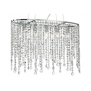 Suspension en métal avec pendentifs K9 Crystals Breeze Fan Europe Line