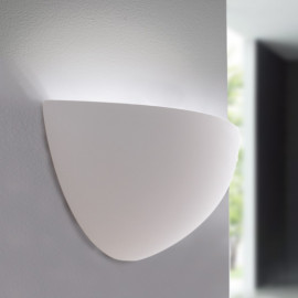 I-ABEL-AP - Applique Lunetta Gesso Lampada da Parete Verniciabile E14
