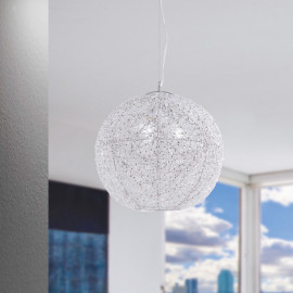 I-ASTRA / S45 - Cristaux de lustre suspendus sphériques modernes Fils d'aluminium torsadés E27