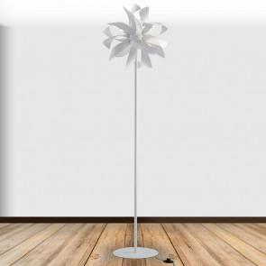 I-BLOOM-PT BCO - Lampada da terra Alluminio Bianca Silver Piantana Moderna G9