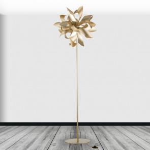 I-BLOOM-PT ORO - Piantana decoro Moderno Alluminio Oro Lampada da terra G9