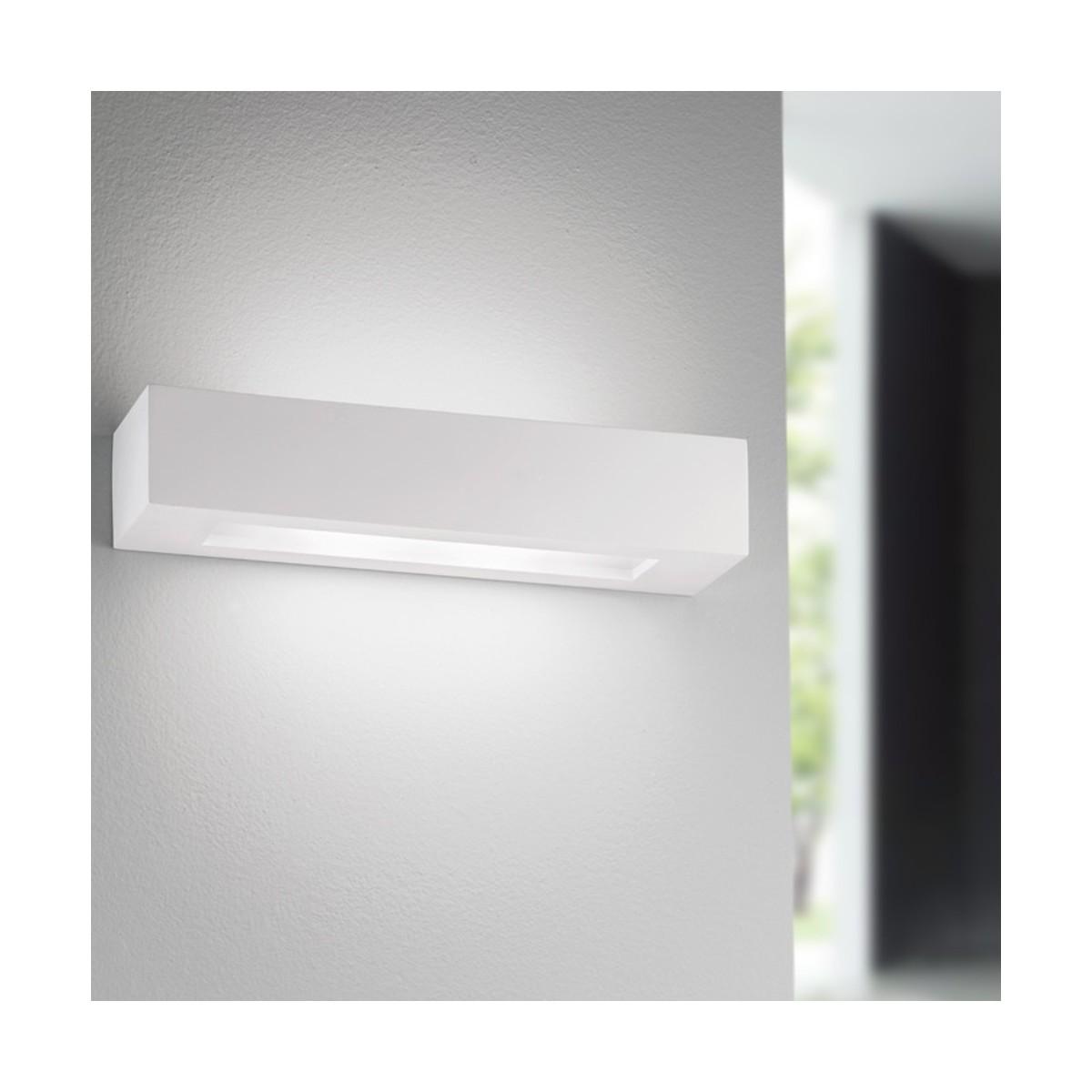 I-CANDIDA-AP - Enduit à peindre rectangulaire à diffusion de lumière à double paroi E14