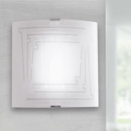 I-CONCEPT / AP26 - Applique Applique Glittery Decoration Carrée Verre Moderne E27
