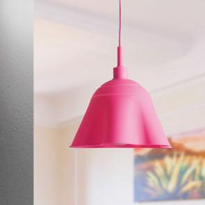I-MONROE/S1 ROS - Sospensione Rosa Silicone Morbido Interno Moderno E27