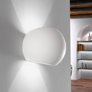 I-MOSES-AP - Applique ronde en plâtre à peindre Double Rayon de lumière G9