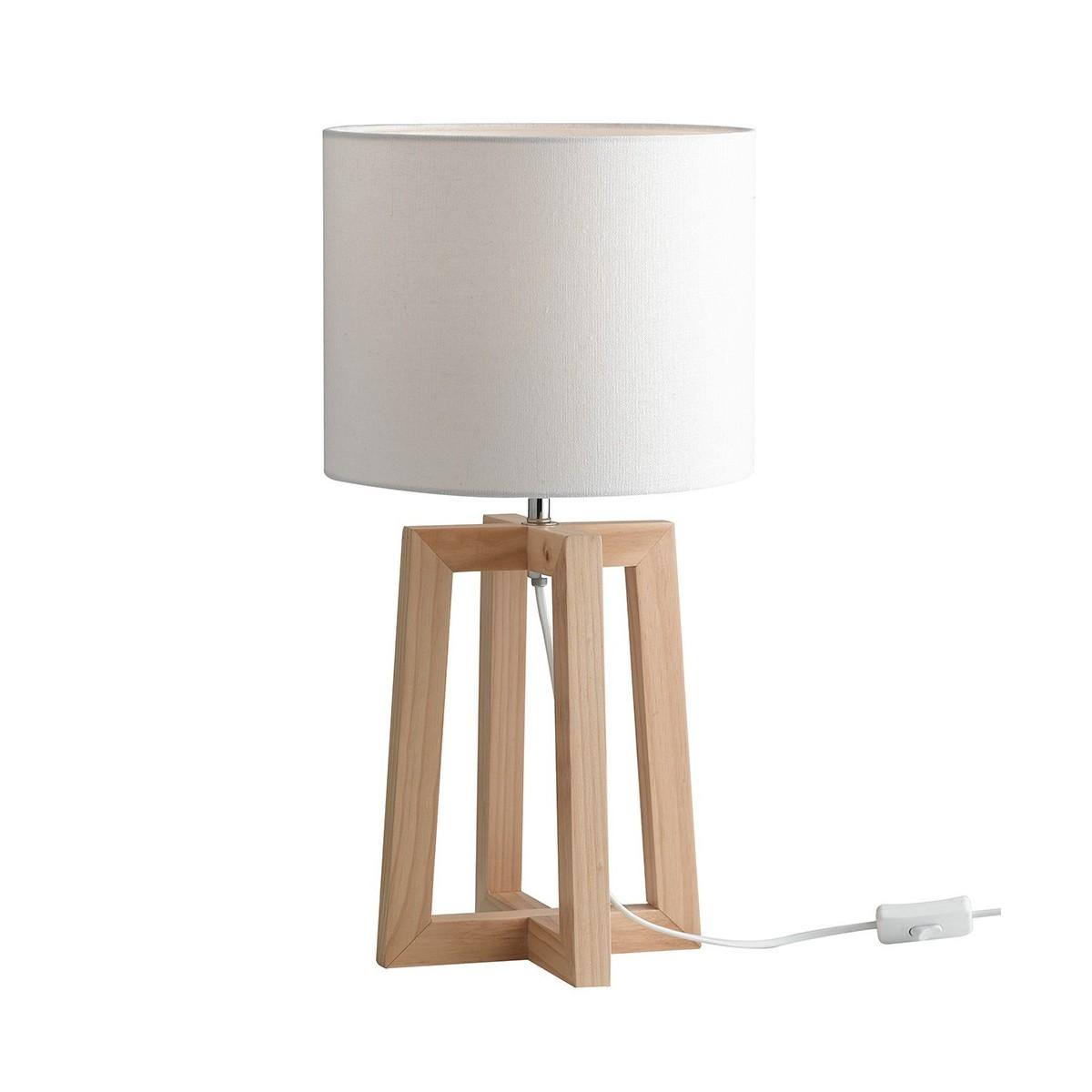 Lampada Da Scrivania Legno.I Berry L 8031440363792 Fan Europe Lighting Lume In Legno Naturale