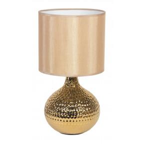 I-PULSAR / L 35 ORO - Abat jour Cadre doré Abat-jour en céramique Lampe de table moderne en PVC E14