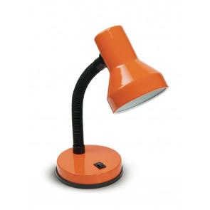 LDT032-ARANCIO - Lampada da Tavolo Scrivania Arancio Orientabile Plastica Metallo Moderna E27
