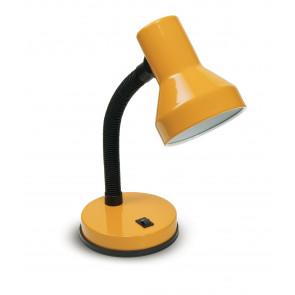 LDT032-GIALLA - Lampe de table moderne en plastique réglable en métal jaune clair E27