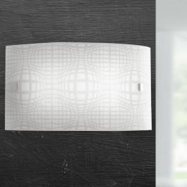 I-PROJECT/AP3520 - Applique Moderna Rettangolare Vetro Disegno Astratto Led 18 watt Luce Naturale