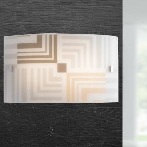 I-SEVENTY / AP3520 - Applique Rectangulaire Verre Blanc Décoration Flèches Applique Moderne E27