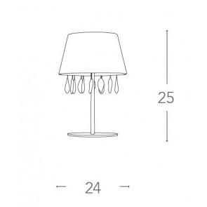 Lampe Metal Drops Crystal K9...