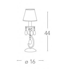 Lampe de table avec abat-jour à...