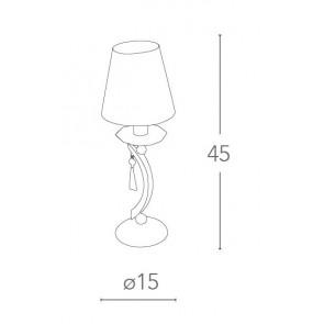 Lampe de table Crystal K9 Abat-jour...