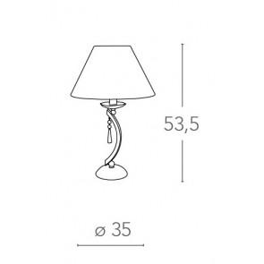 Lampe de Table Classique Métal...