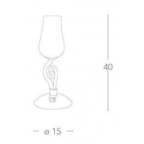 Lampe de table en forme de fleur...