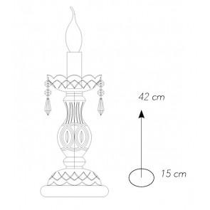 Lampe de Table Finitions Or Verre...