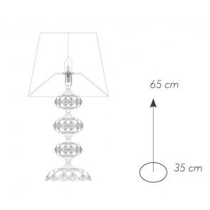 Lampe de Table Chromée Verre...