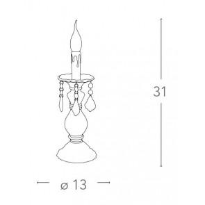 I-246/00300 - Lampe en verre...