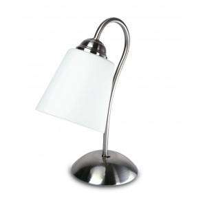 I-1162/L NIK - Lampada da Tavolo Nickel Metallo paralume Vetro Soffiatto Classica E14