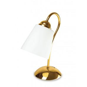 I-1162 / L ORO - Abat-jour Lampe de Table Classique en Métal Doré et Verre Soufflé E14