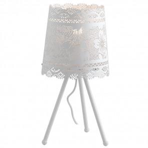 I-CLUNY-L20 - Lampe trépied Abat jour Abat jour Moderne Blanc Mat Dentelle Perforée E27