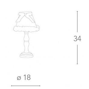 Lampe de chambre en tissu blanc 40...
