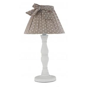 I-SWEET-LUME - Abat-jour Cadre en bois blanc Abat-jour en coton marron Classic Hearts E27