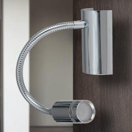 LED-KEPLER-CR - Applique moderne Lampe de lecture flexible en chrome Led 3 watts lumière chaude