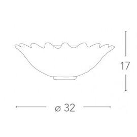I-DEDALO/APS - Applique trasparente con decori in rilievo 60 watt E27